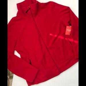 NWT Danskin Now Red MicroFleece Jacket